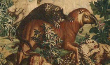 Combat des Animaux (Battle of the Animals) Gobelins, Paris, c.1723