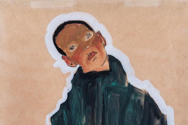 Portrait of a boy in a green coat