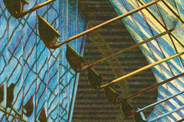 Edwina Ellis print of Waterloo station