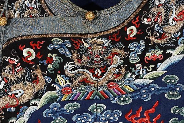 Man's formal robes (detail)