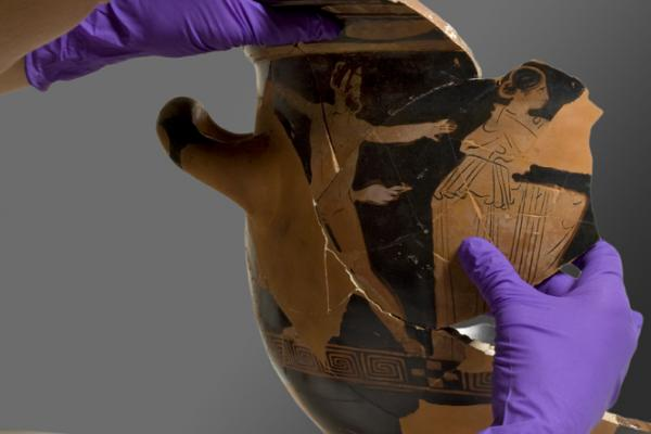 Conserving a Greek Pot