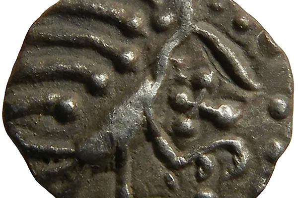 An image of a medieval coin for the Festival of Archaeology 2021 online talk by Dr John Naylor