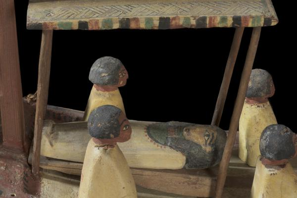 Model war boat with sail (detail), Egypt, 2125-1940 BC