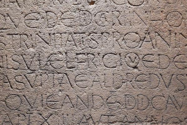 the odda stone at the ashmolean museum
