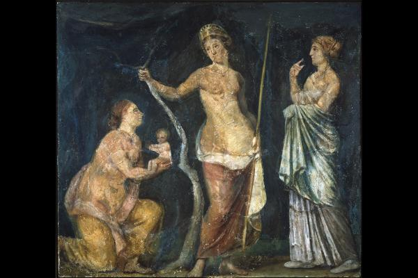 Fresco of the Birth of Adonis, from the Domus Area of Nero