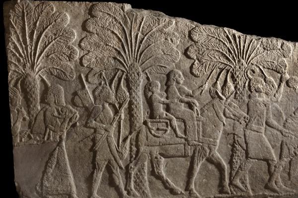 Assyrian relief fragment, Iraq, 702 BC