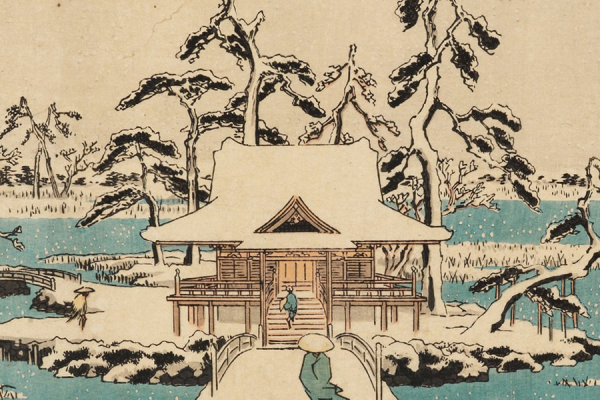 ashmolean christmas card benten shrine snow hiroshige