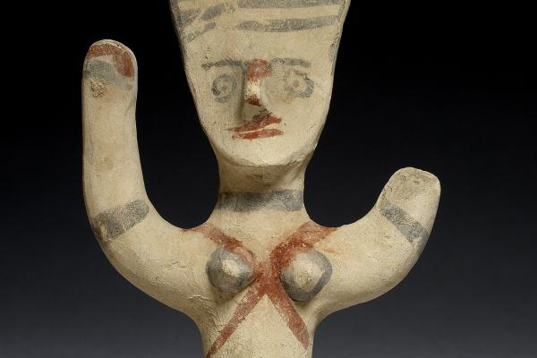 Statuette of a female worshipper (detail), Cyprus, 1050-750 BC