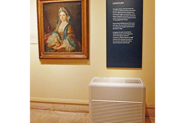 A humidifier in use in a gallery conservation