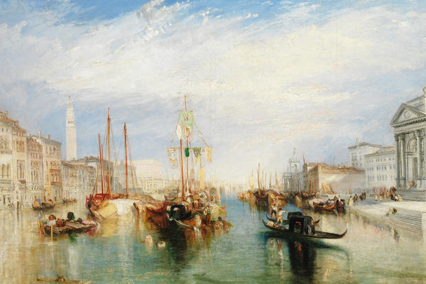 J.M.W. Turner, Venice, from the Porch of Madonna della Salute, The Met
