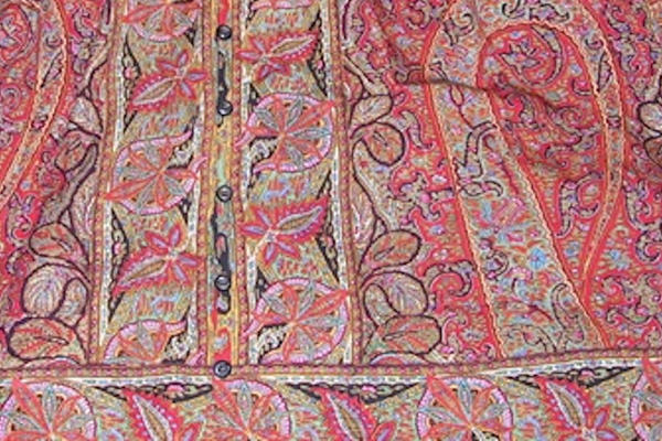 Detail of Paisley Fabric from Victorian Dress, Wool, Private Collection