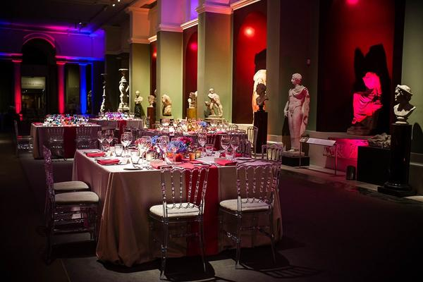 Colourful Set Up Evening Dinner in Galleries