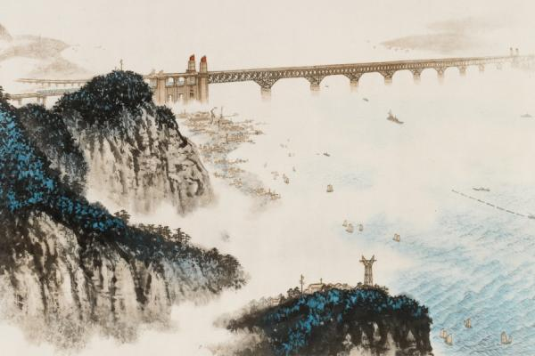 Wei Zixi, Heaven's Moat will become a thoroughfare, lithograph
