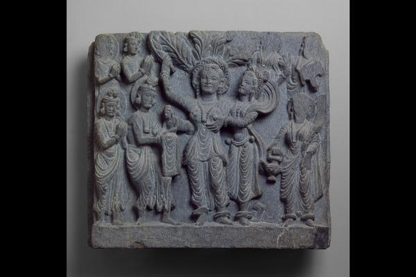 Relief showing birth of Buddha