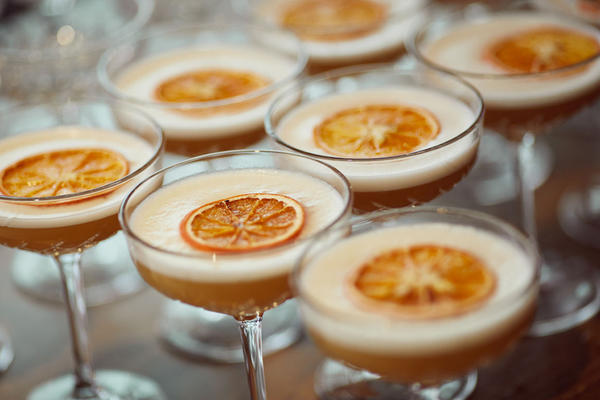 Close up photograph of rum cocktails