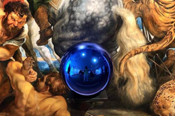 Jeff Koons exhibition Instagram photo by dodierosekrans