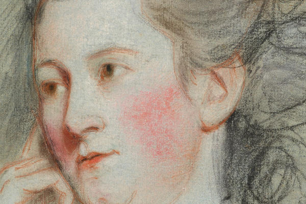 John Russell, Lady Worsley, pastel on paper