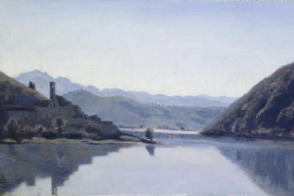 Lago di Piediluco, Umbria by Jean Baptiste-Camille Corot (1796-1875)
