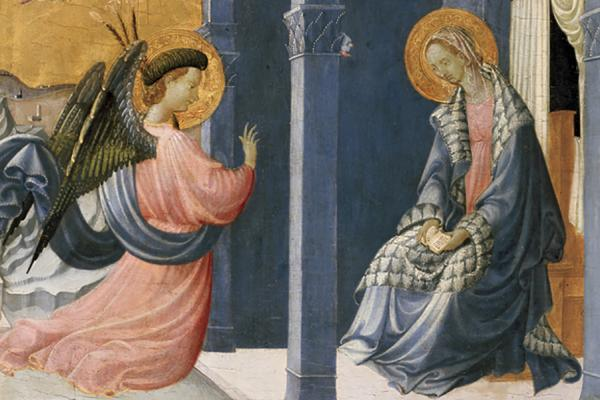 The Annunciation (detail) by Uccello