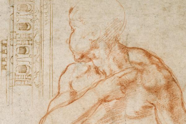 Various studies for the Sistine Ceiling and for the Tomb of Pope Julius II, Michelangelo, 1511-13