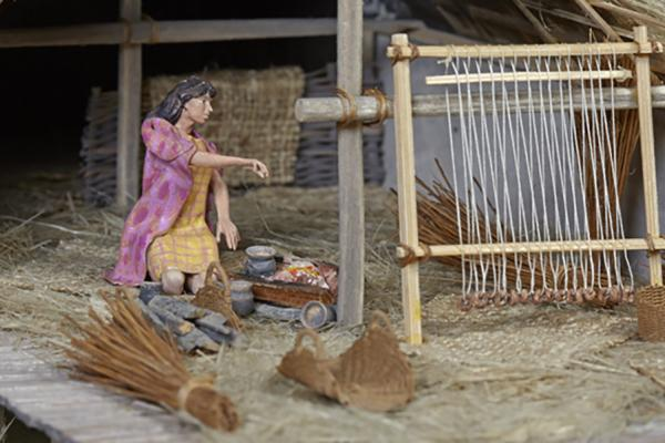 neolithic lake village model weaving