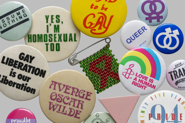 no offence exhibition lgbtq campaign badges