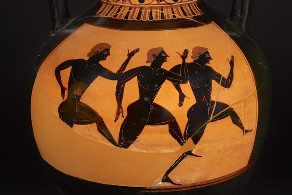 panathenaic runners amphora at the ashmolean museuman 1965 117 c