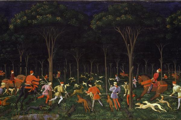 The Hunt in the Forest by Uccello