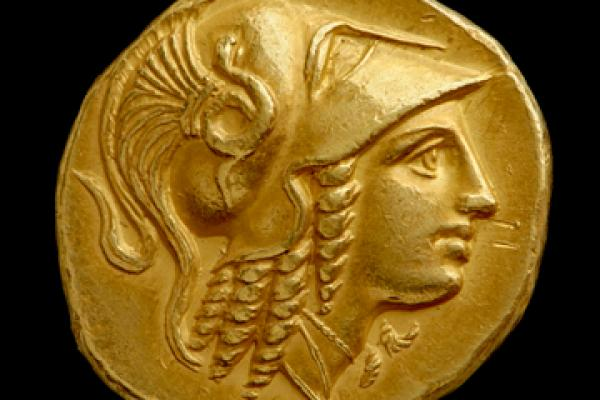 Gold stater of Alexander the Great from the Amphipolis mint