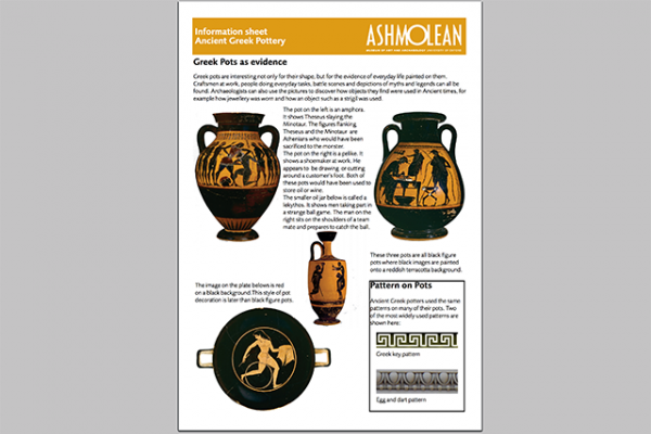 learn pdf information sheet ancient greek pottery
