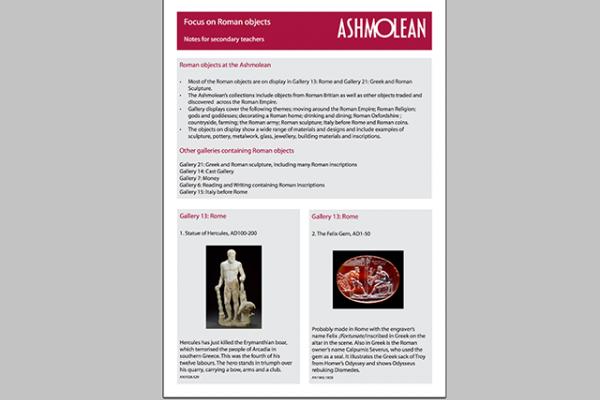 learn pdf focus on roman objects
