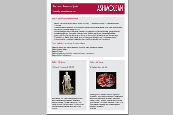 learn pdf focus on roman objects