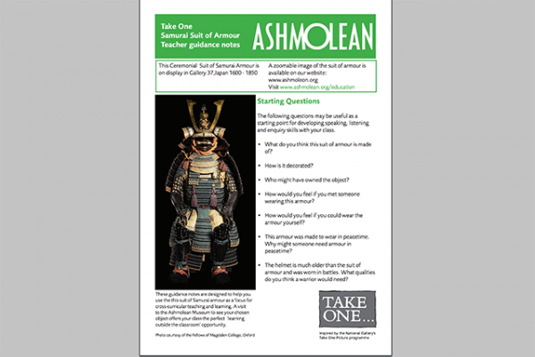 learn pdf take one samurai suit of armour teacher guidance notes