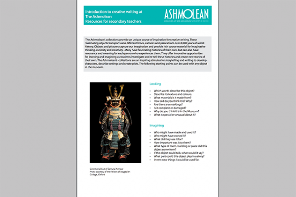 Learn PDF Introduction to creative writing at the Ashmolean