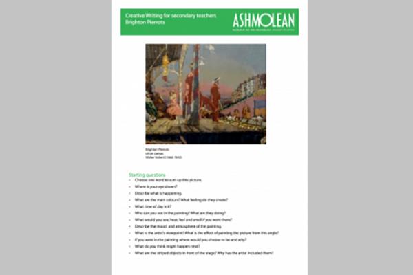 Learn PDF Creative Writing for Secondary teachers Brighton Pierrots