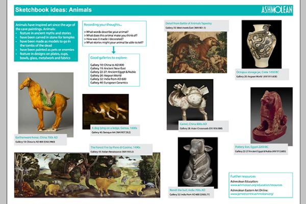 Learn PDF Sketchbook ideas Animals