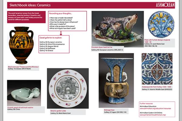 Learn PDF Sketchbook ideas Ceramics