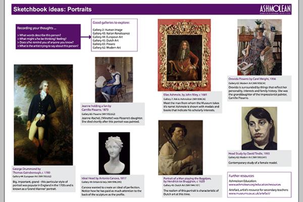 Learn PDF Sketchbook ideas Portraits