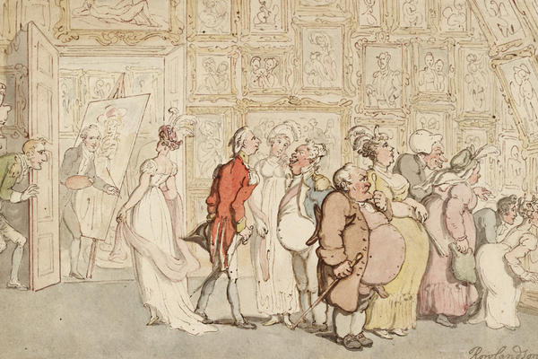 Thomas Rowlandson, The Portrait Painter's Ante-room