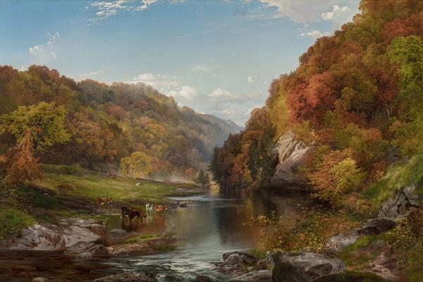 thomas moran autumn afternoon the wissahickson