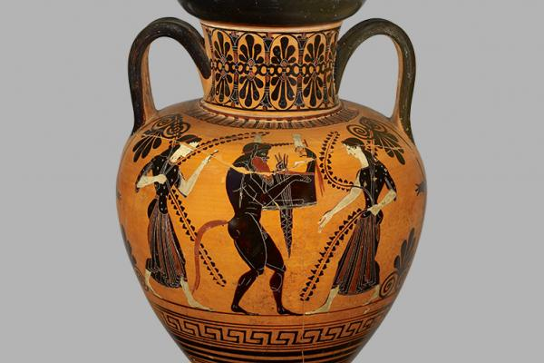 Athenian black-figure amphora attributed to Antimenes Painter, 550-501 BC.