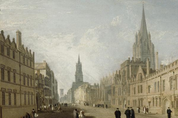 Detail from The High Street Oxford by Turner (1810)