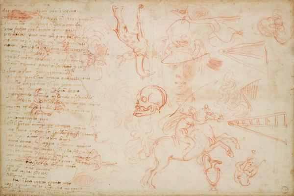 Miscellaneous Sketches and a Poem by Michelangelo