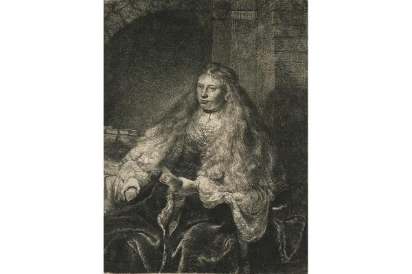 Rembrandt, The Great Jewish Bride, 1855