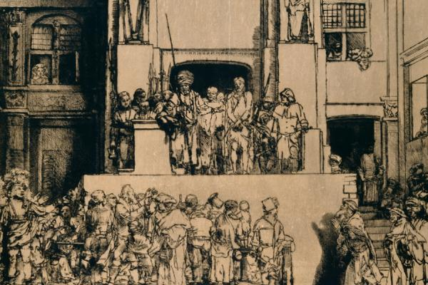 Rembrandt, Christ Presented to the People, 1655