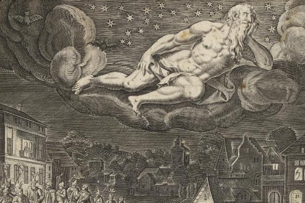 Giacomo Lauro after Maerten de Vos, Nox (Night), c.1597