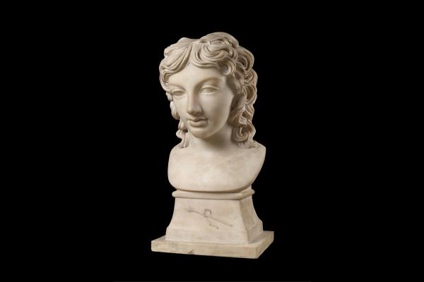 Bust portrait of Prince Henry Lubomirski in the character of Bacchus by Anne Seymour Damer