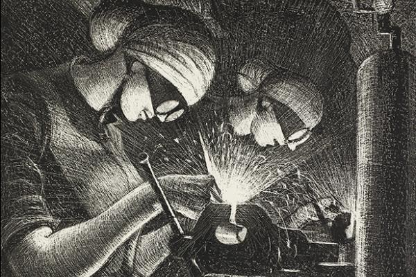 Christopher Nevinson, Acetylene Welders, 1917