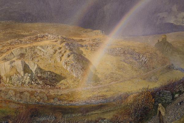 Alfred William Hunt, A November Rainbow, Dolwyddelan Valley, November 11, 1866, 1 p.m. 1866