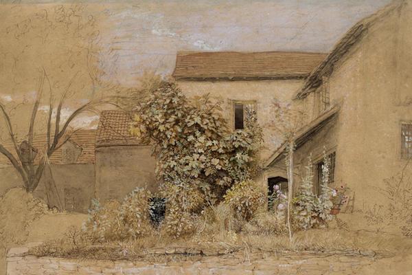Samuel Palmer, A House and Garden at Tintern